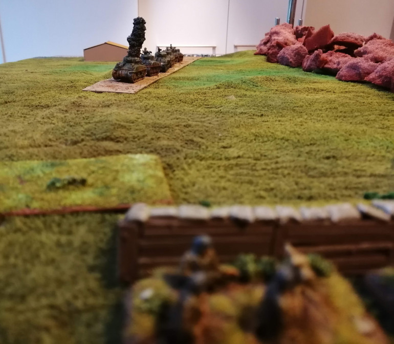 The Fallschirmjager LG40 takes out the lead tank