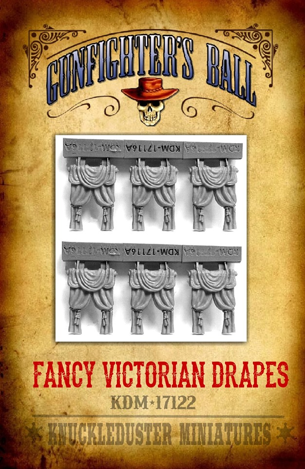 Fancy Victorian Drapes - Knuckleduster Miniatures