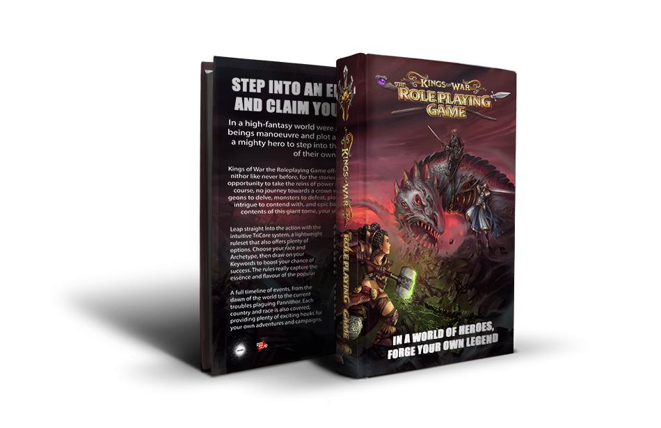Kings Of War RPG Back & Front - Red Scar Publishing
