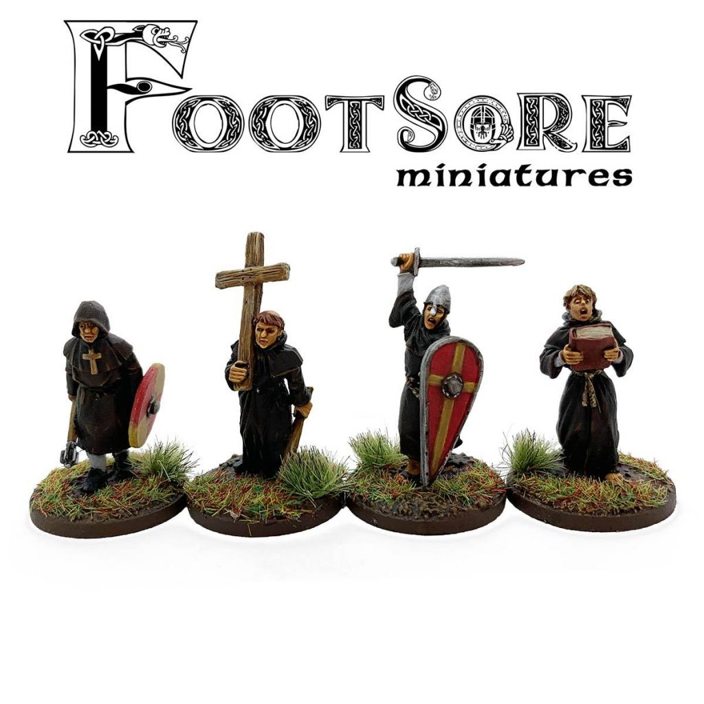 Milites Christi Warrior Monks With Cross - Footsore Miniatures