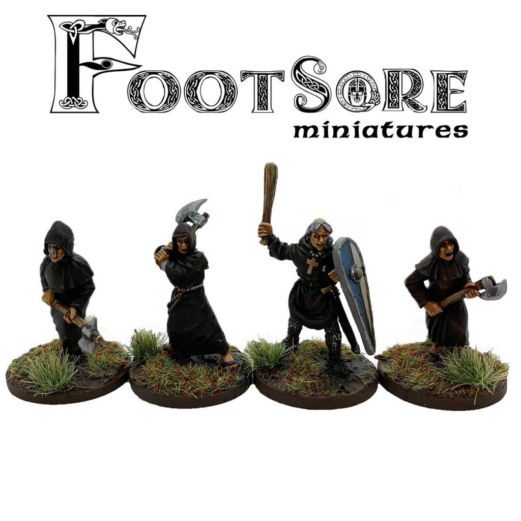 Milites Christi Warrior Monks With Hand Weapons - Footsore Miniatures