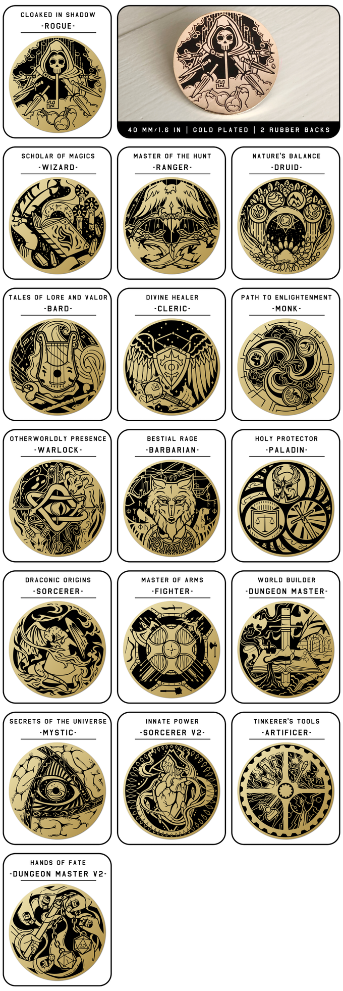 Choose Your Class From These D&D Pins – OnTableTop – Home of