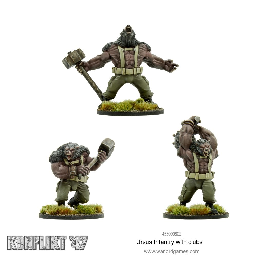 Ursus Infantry With Clubs #1 - Warlord Games