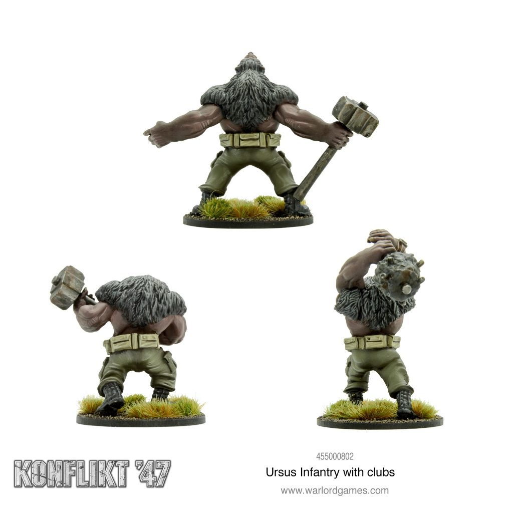 Ursus Infantry With Clubs #2 - Warlord Games
