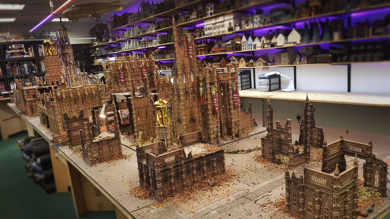 Get a Look at the Finished Warhammer 40K Apocalypses Gaming Table - PART 1