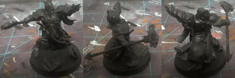 The other guy, with the arm converted. I wanted the arm pointing straight ahead, but I guess this will do.