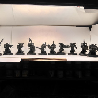 Mold lines removed,guns drilled out and DIY lightbox made.