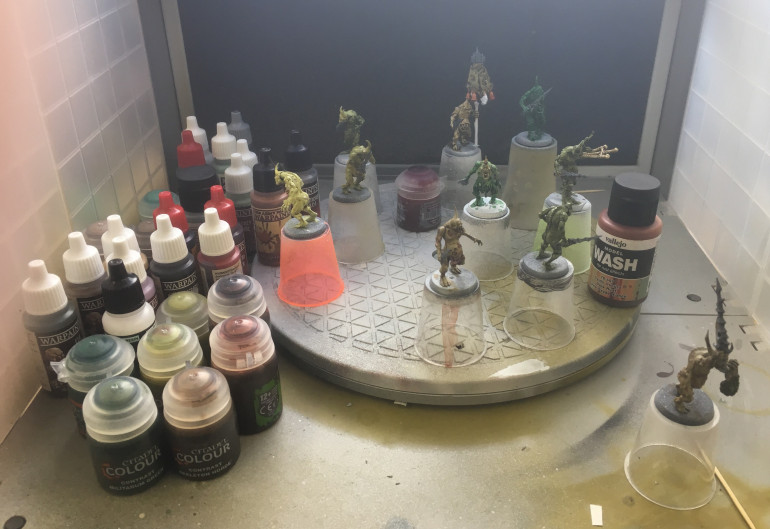 Robert's Starts Prepping His Nurgle Army & Assembling Paints
