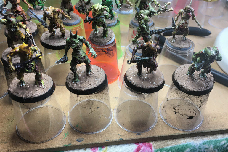 The final four Plague Bearers with Textured Paint