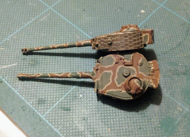 Tiger turrets get another colour, getting there slowly slowly.