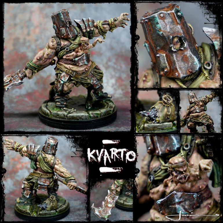 So much detail on these minis! My fav bit on Kvarto I think is the little rat gnawing his way out of the bag at the back!! That and the eye staring out from a hole in teh bucket helmet!