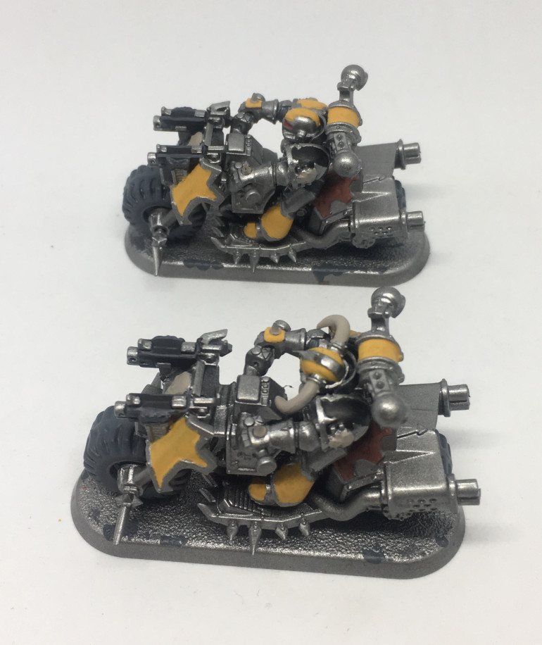 Entry 3: Two basecoated Bikers