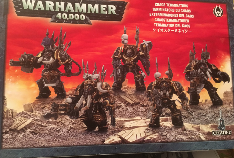 Found another box of Chaos Stuff.  Not going to Nurgle these up, as I have a box of the Nurgle Terminators somewhere.  These will be some Renegades along for the ride.
