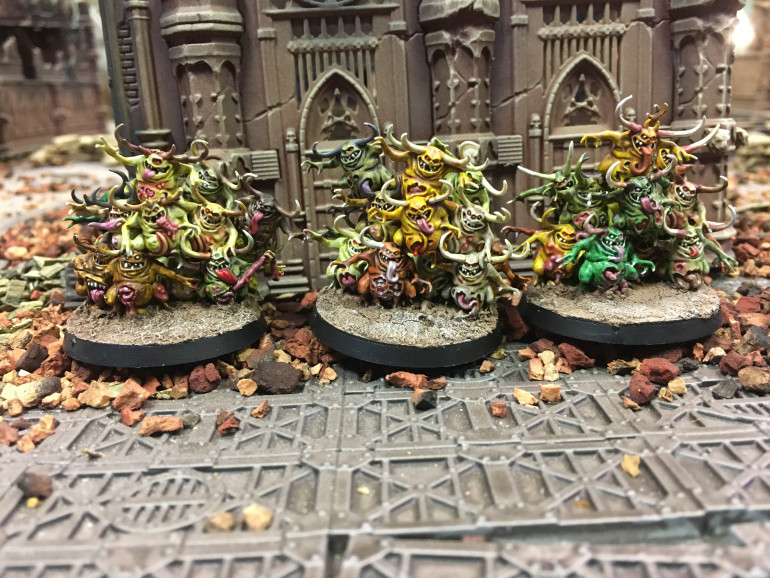 Nurglings Done!  Plague for the Plague God!