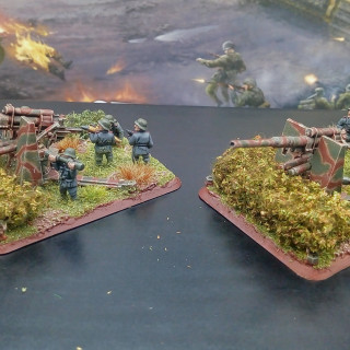 Behind but working hard already this weekend. Artillery are now finished.
