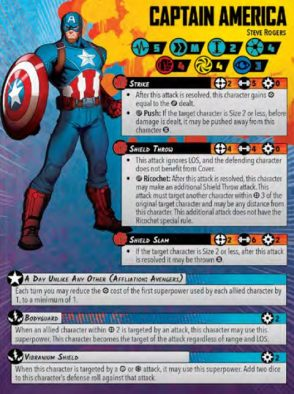 Captain America Character Card - Atomic Mass Games