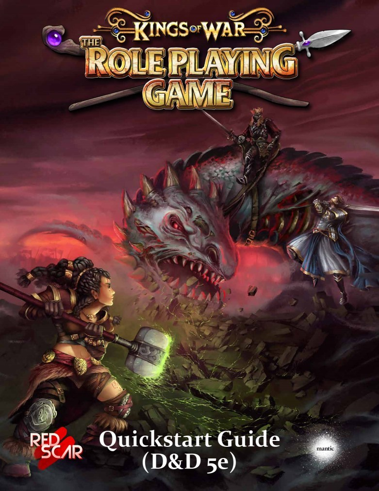 Kings Of War RPG 5E Quickstart - Red Scar Publishing