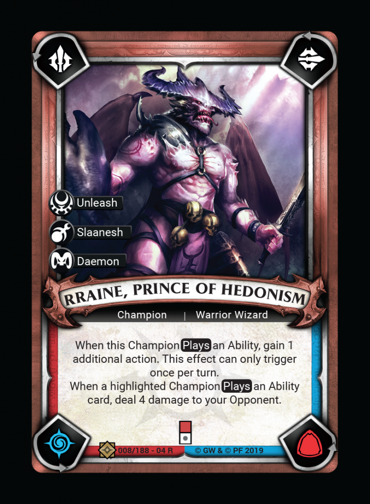 Rrain Prince Of Hedomism - Warhammer Champions