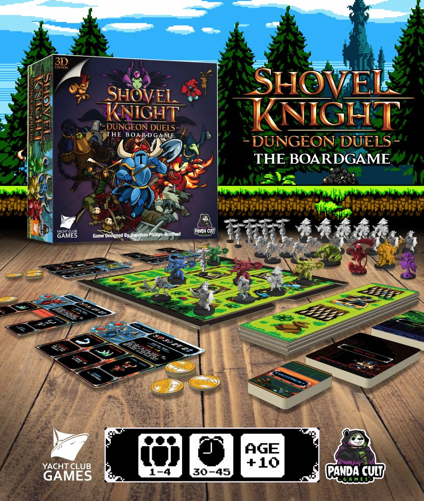 Shovel Knight Dungeon Duels The Board Game Contents - Panda Cult Games
