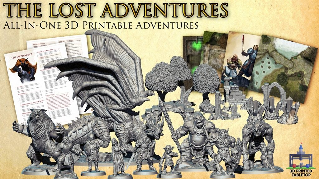 The Lost Adventures Main Image - 3D Printed Tabletop