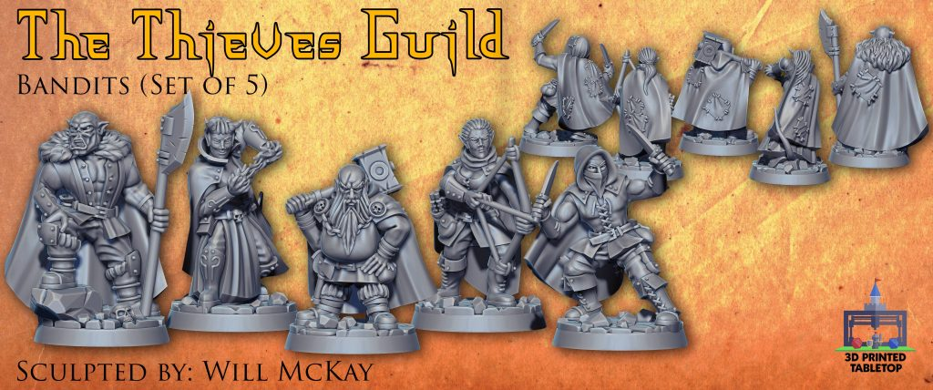 The Thieves Guild - 3D Printed Tabletop