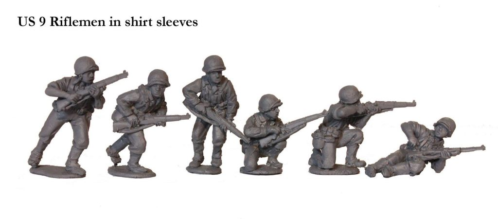 US Riflemen in shirt sleeves - Perry Miniatures
