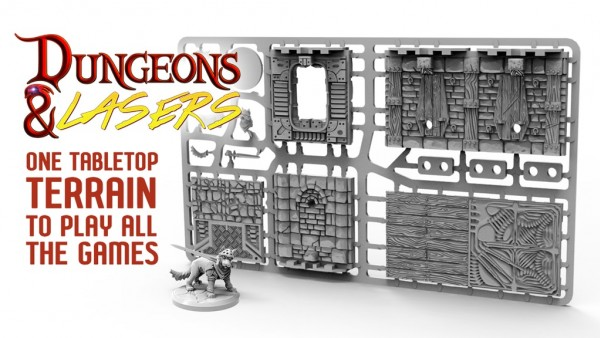 Dungeons & Lasers: Plastic Tabletop Scenery Kickstarter Live!