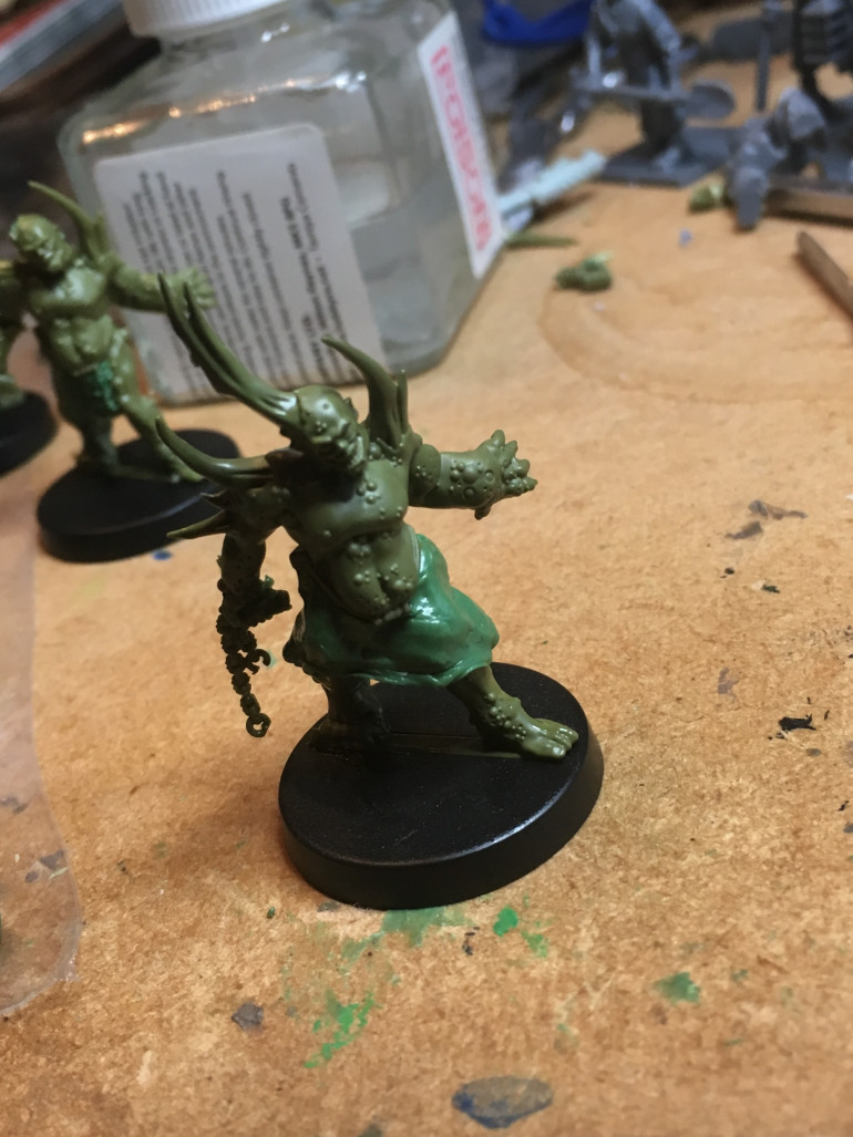 Pox-Walker in a kilt sans sporran.  It may get added or I am calling it a skirt and adding nurgle boobs and a perm.