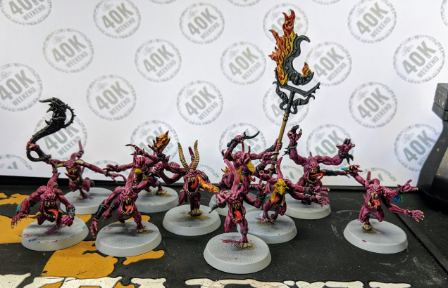 Pink Horrors but not decided on the basing yet.