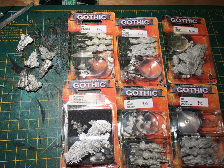 Finally getting round to assembling my ork fleet...