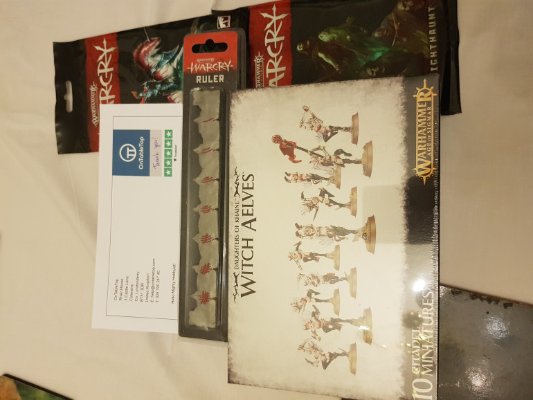 After looking at the Warcry card I got this box.