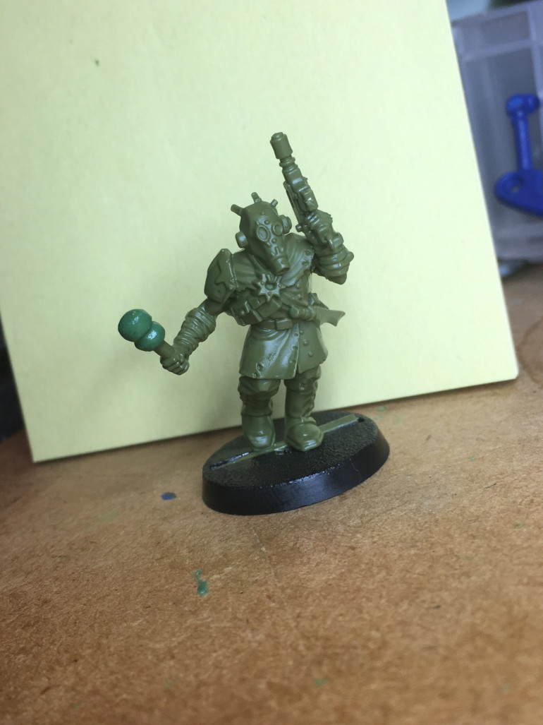 Just a change in position of the arm and a grenade instead of a club thing.