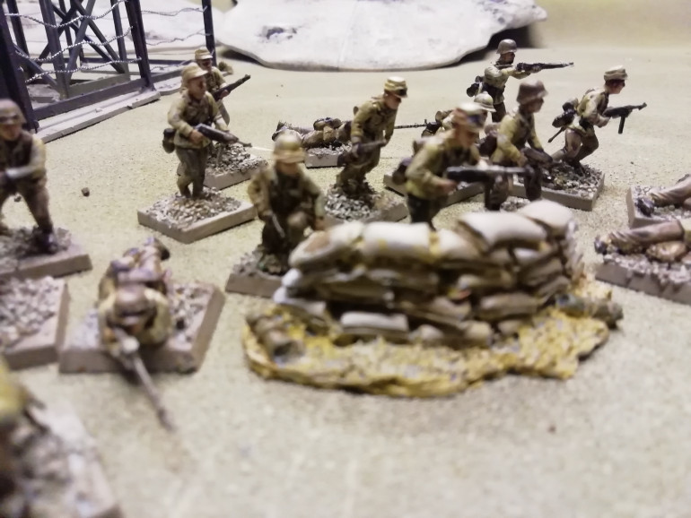 My guards for the camp were made up from one box of Perry Afrika Korps