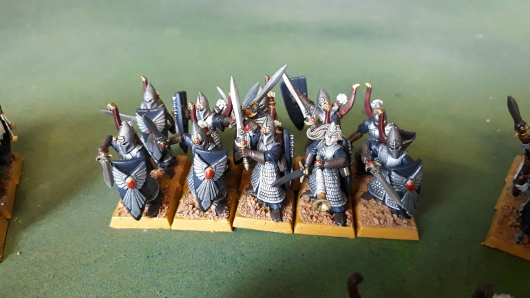 Elven Marines converted with bits form the 8th ed shadow warriors plastic box. Quite happy with the way these guys turned out given how static the high elf bodies used initially were.