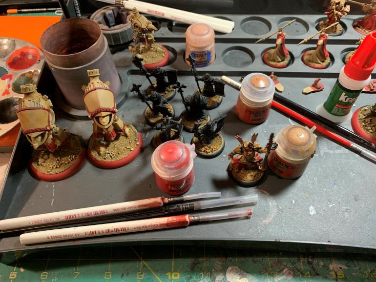 What I have left on my painting table!