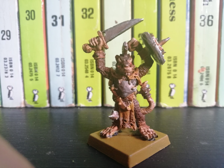 Finished Warlord using the colour scheme from the game as inspiration.