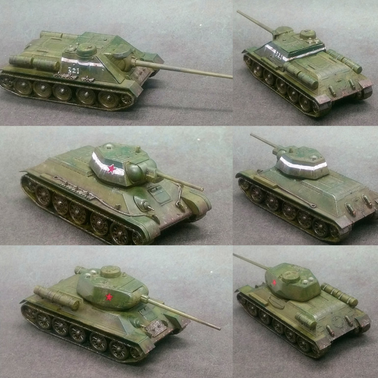 T34/76, T34/85 and SU-100