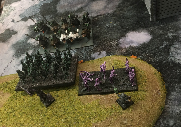 Fleabags, I hate Fleabags, they slowed the flank long enough for the centre of the Undead to be unsupported and destroyed!