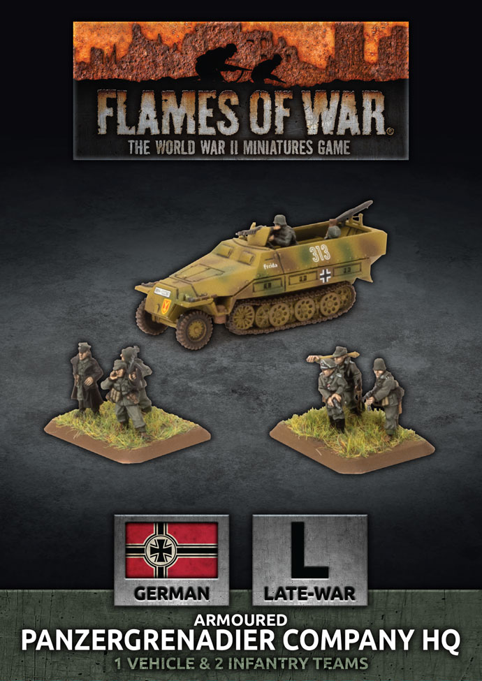 Armoured Panzergrenadier Company HQ - Flames Of War