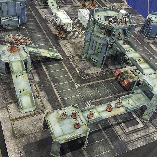 Combat Zone Kit In Play #1 - PWork Wargames