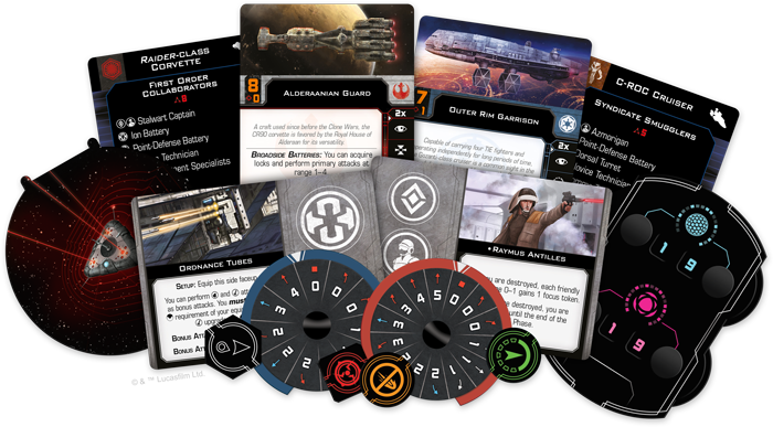 FFG X-Wing Huge Ships Conversion Box Contents