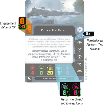 FFG X-Wing Huge Ships Conversion Card