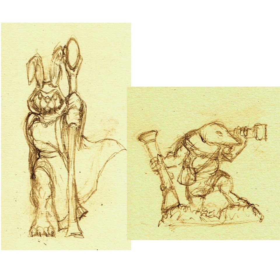 Hare Mage & Mole Gunner - Burrows & Badgers