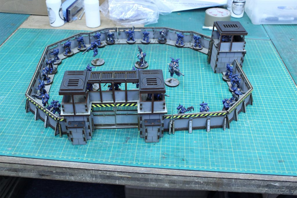 Lasercut Architect Defensive Walls