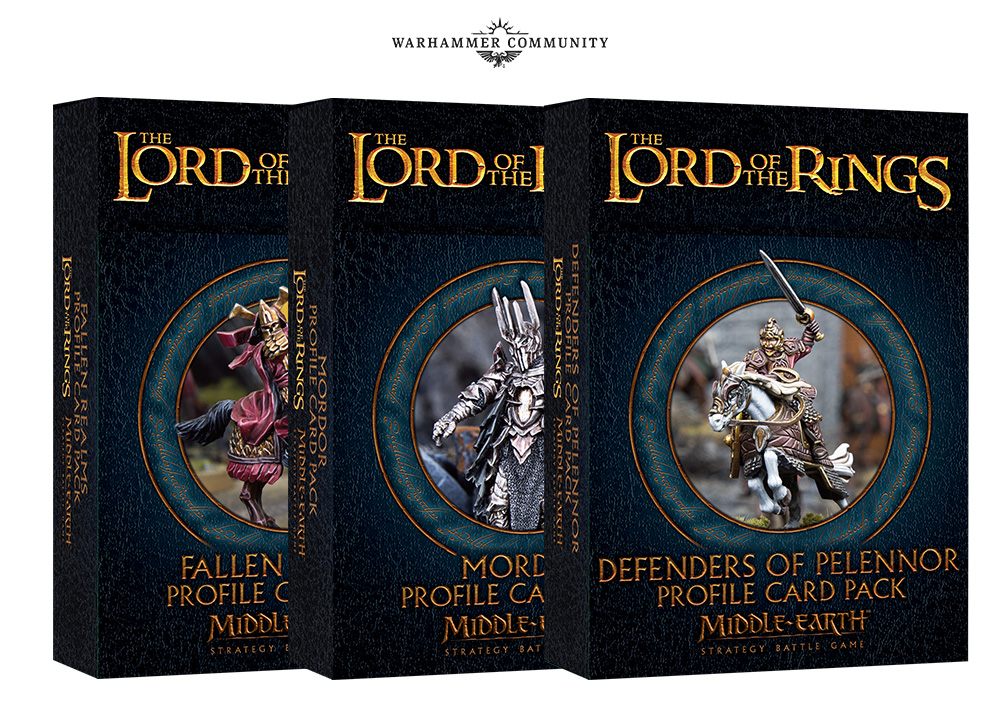 Middle-earth Profile Cards - Games Workshop