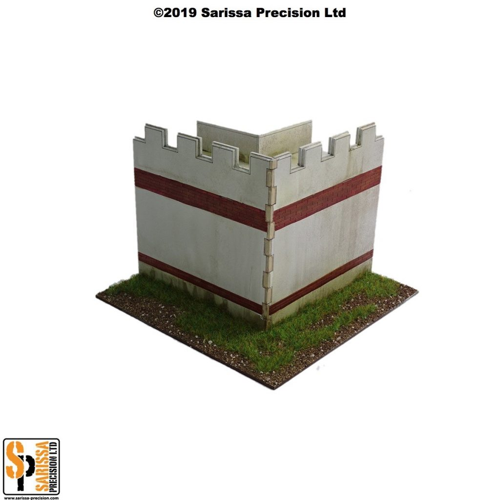 Mile Fort Corner Wall - Sarissa Precision