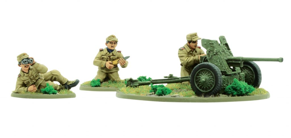 North Korean KPA M42 Anti Tank Gun - Warlord Games