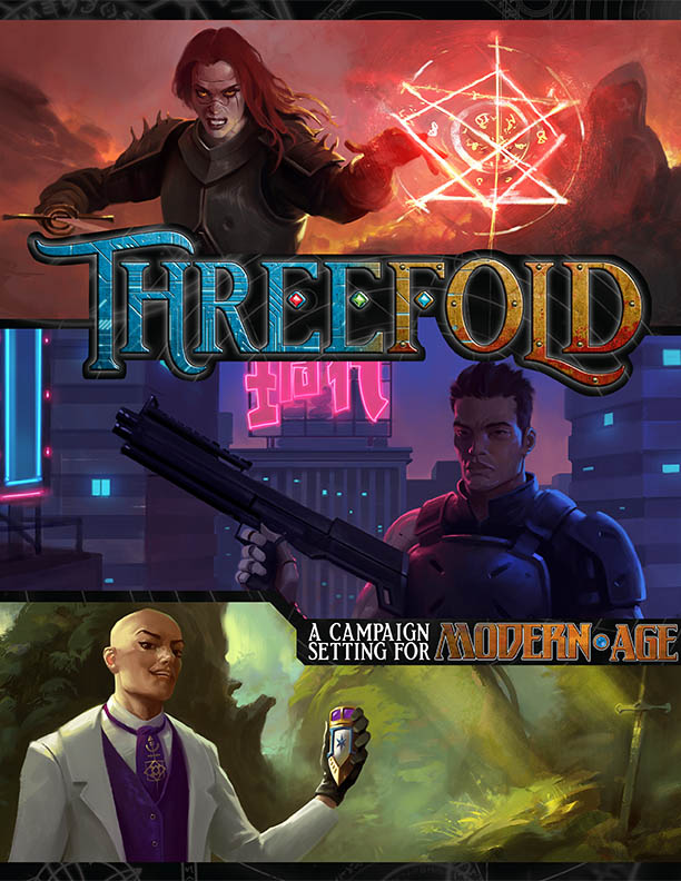 Threefold Supplement Cover - Green Ronin