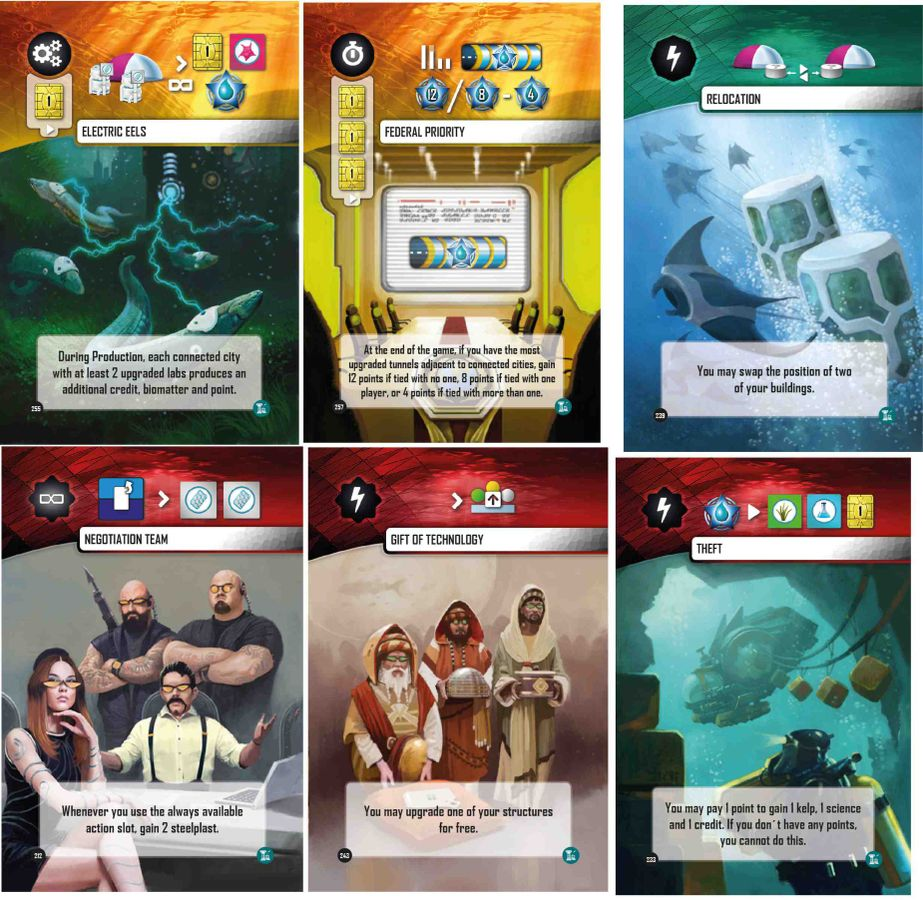 Underwater Cities New Discoveries (Cards) - Delicious Games