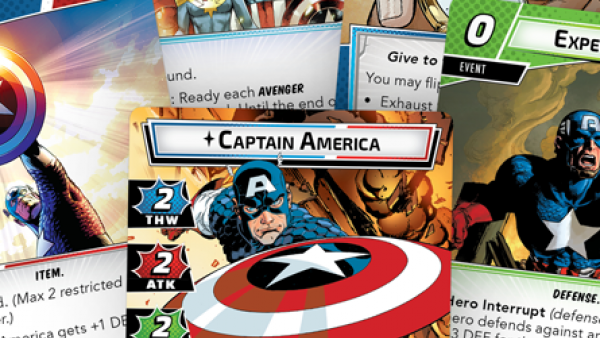 FFG Preview Captain American Hero Pack For Marvel Champions LCG